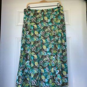 CJ Banks Linen Blend Leaf Skirt 🍃 Size 3X
